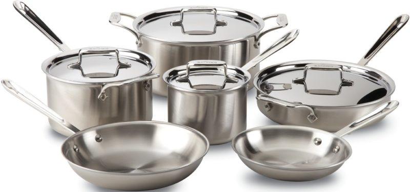 All-Clad BD005714 10-piece Cookware Set