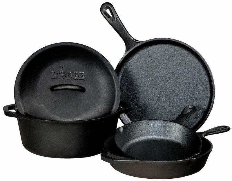 Lodge 5 Piece Bundle Cookware Set