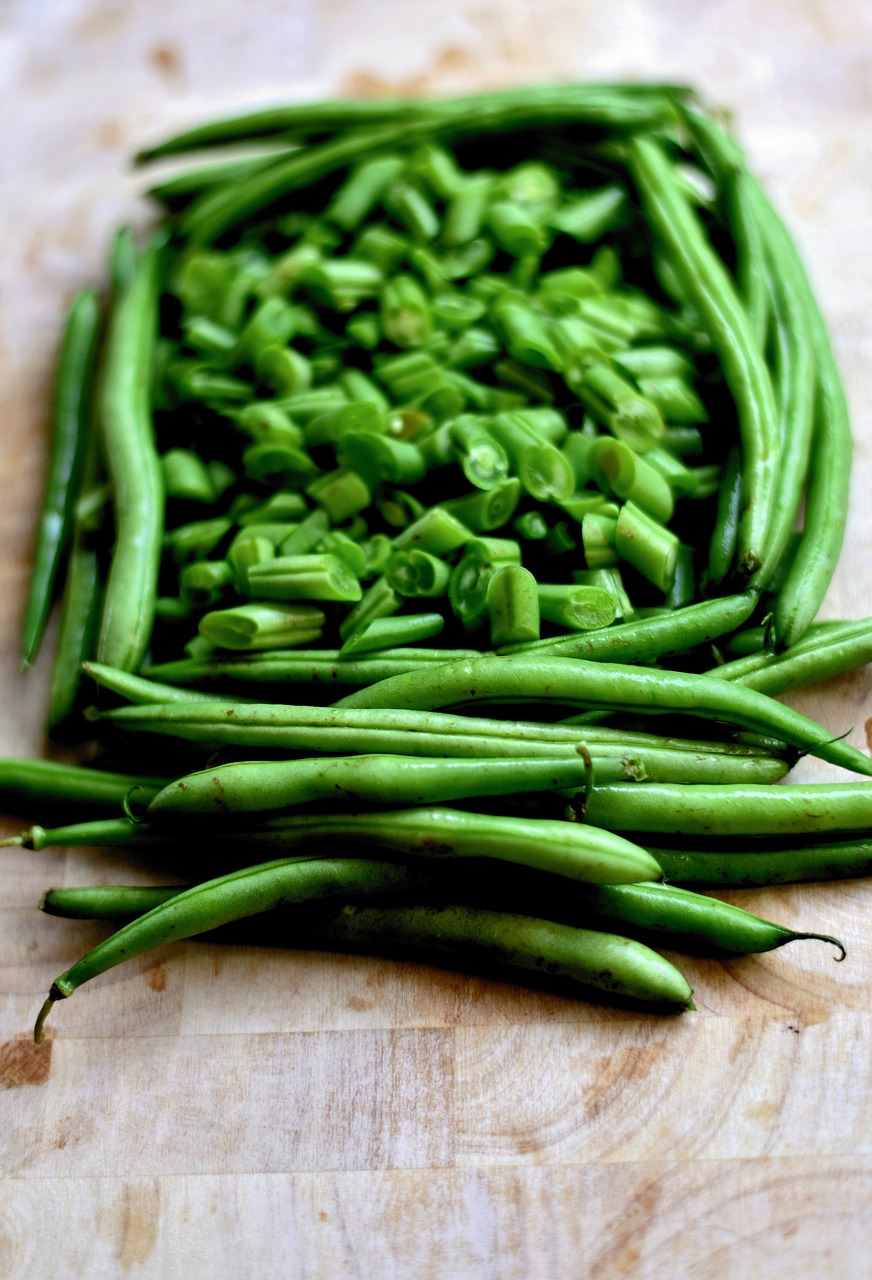 Pole beans from the three-sisters planting method