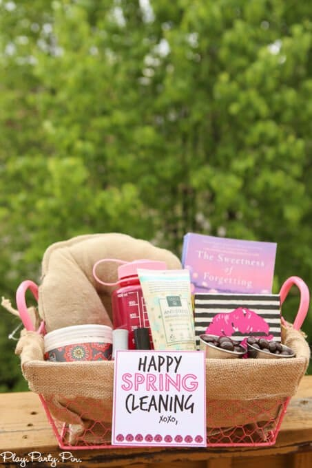 spring cleaning gift basket ideas