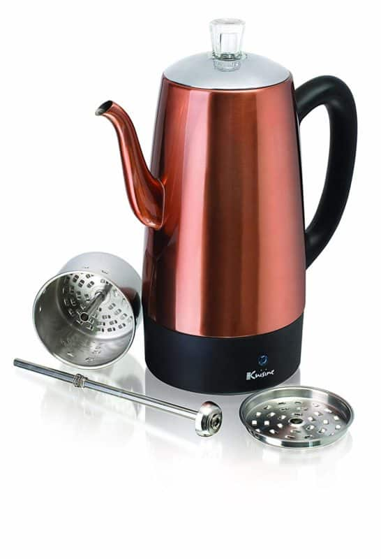 Euro Cuisine PER08 8 Cup Stainless Steel Percolator
