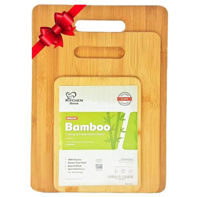 Kitchen Basix 3-Piece Bamboo Cutting Board Set