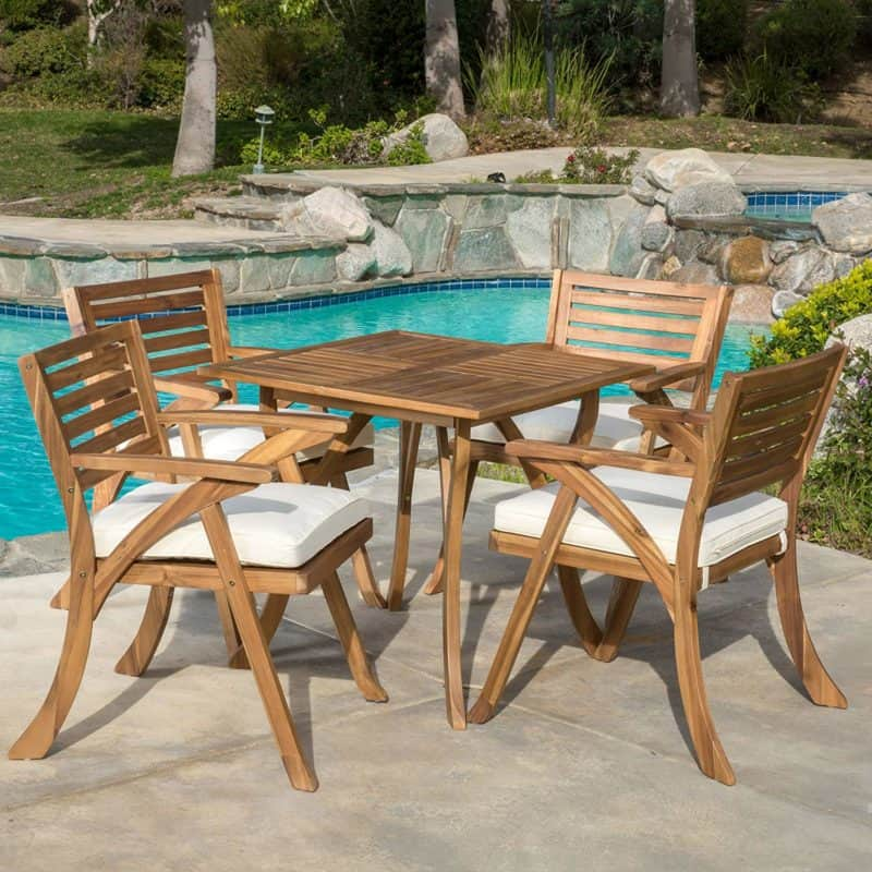 Christopher Knight Home 296620 Deadra 5-Piece Patio Set