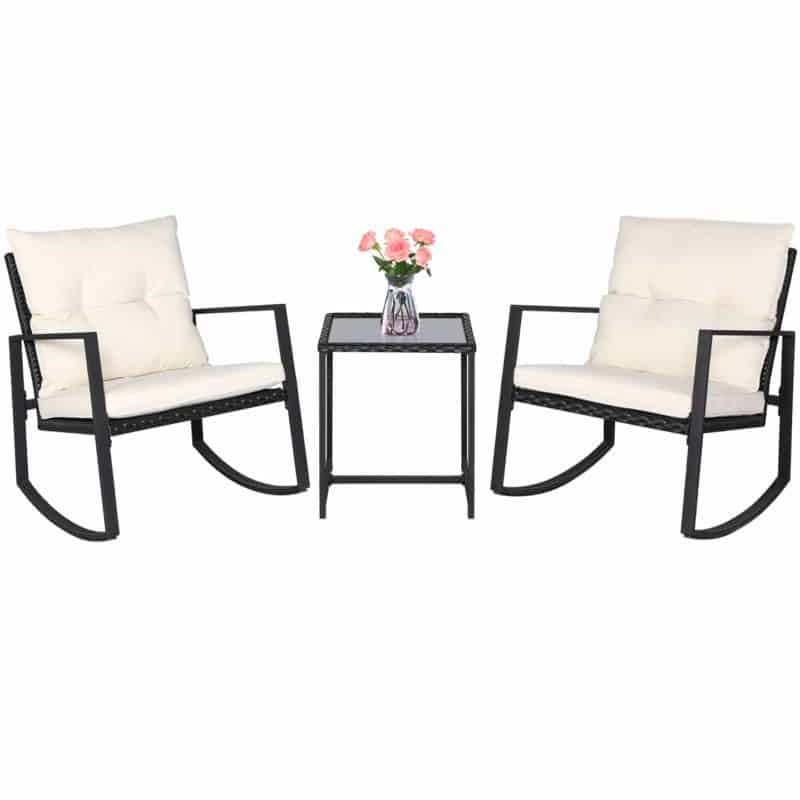 SUNCROWN 3-Piece Rocking Bistro Patio Set