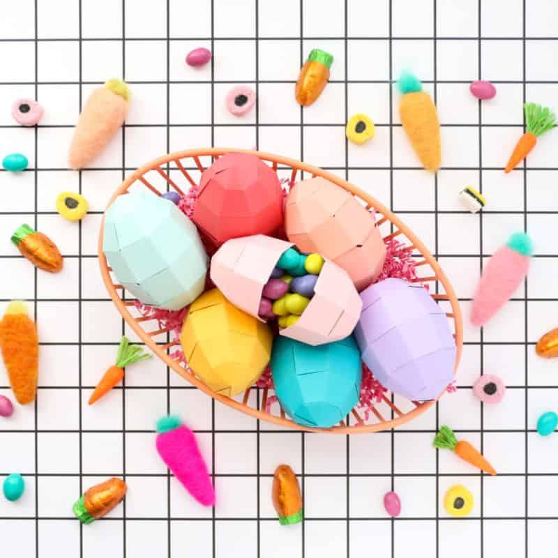 Geometric Paper Eggs