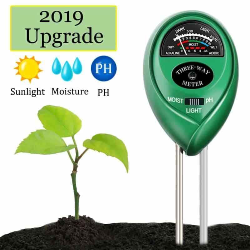 Swiser 3-in-1 Soil pH Tester Meter