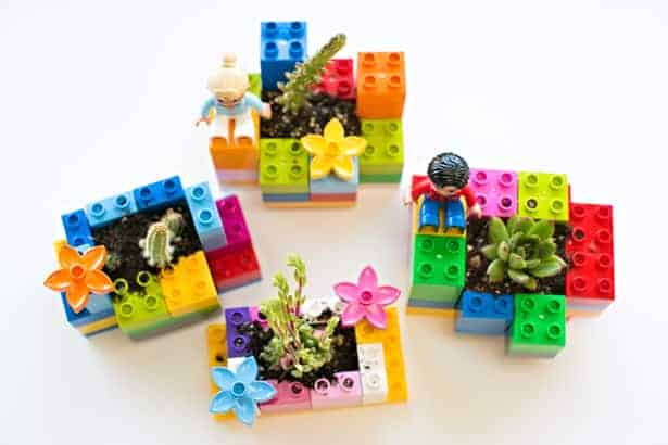 making lego planters are fun activities for kids