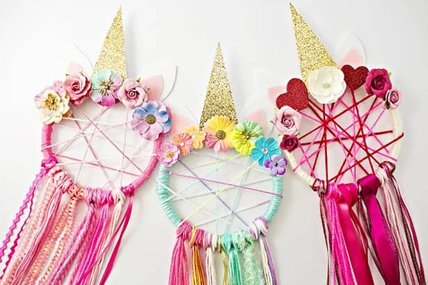 making dreamcatchers is a fun activity for kids