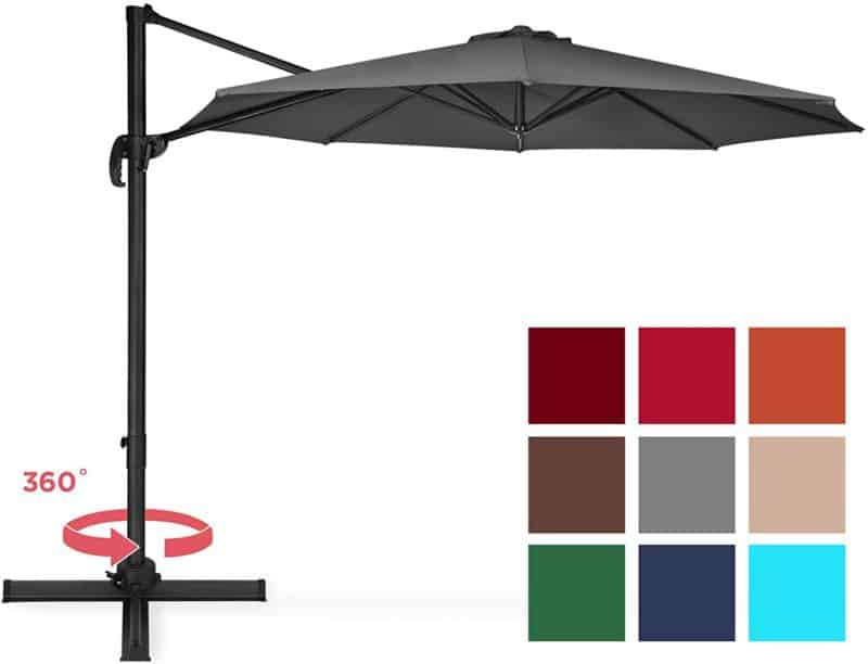 Best Choice Products 10-Foot Cantilever Umbrella