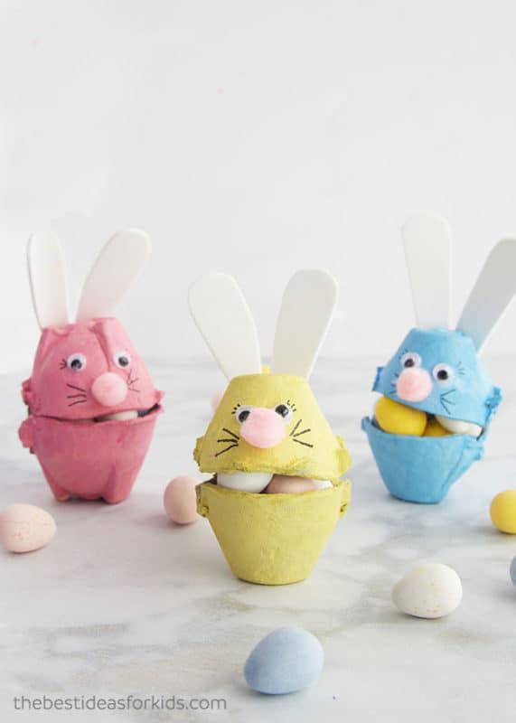 Egg Carton Rabbits eater crafts