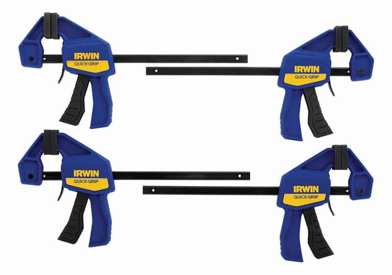 IRWIN 1964758 QUICK-GRIP Woodworking Bar-Clamp 4-pack