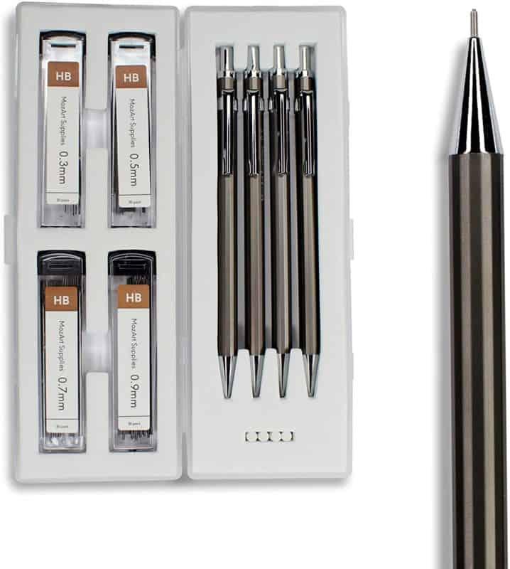 MozArt Supplies Mechanical Pencil Set