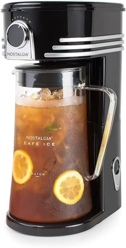 Nostalgia C13BK Iced Coffee Maker and Tea Brewing System