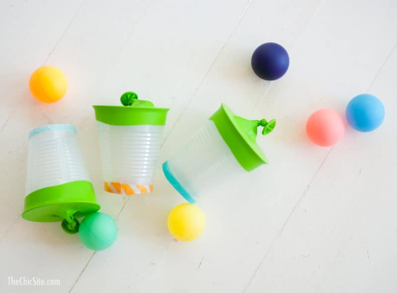 making and playing with ping pong shooters are great fun activities for kids