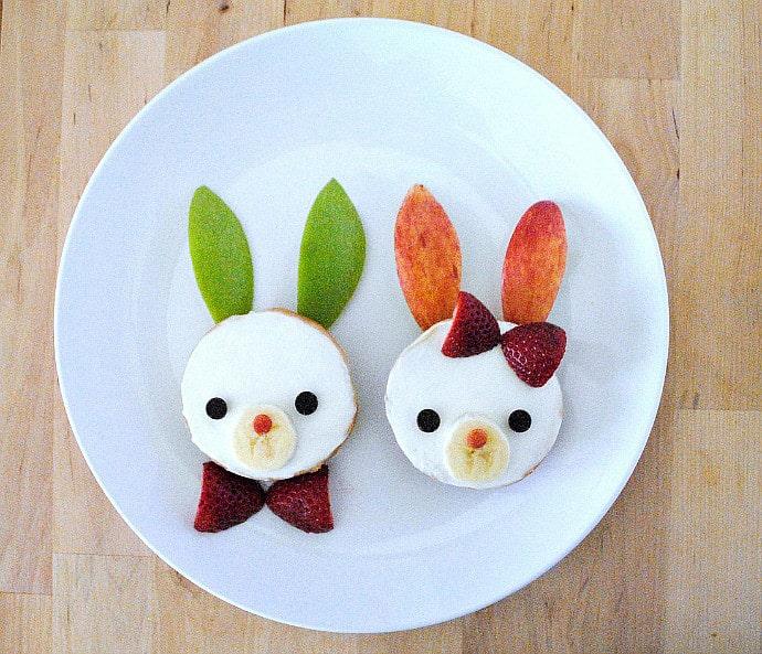eastre snacks bagel bunnies