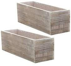 Accent Decor Wood Planter Box Set