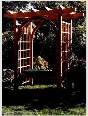 DIY garden arch