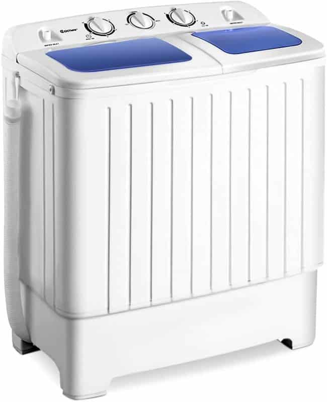 Giantex 17.6 lbs Mini Portable Mini Compact Twin Tub Washing Machine