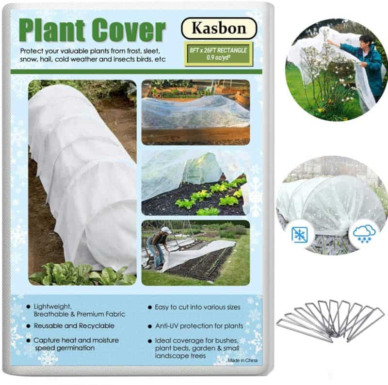 Kasbon Plant Covers Freeze Protection & Plant Blanket Fabric