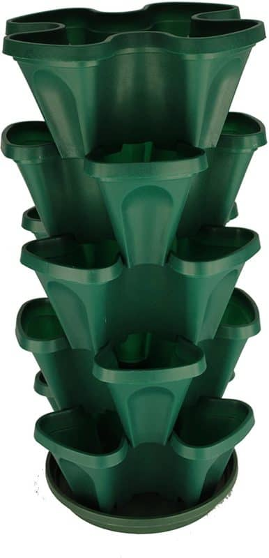 Mr. Stacky 5-Tier Strawberry and Herb Garden Planter