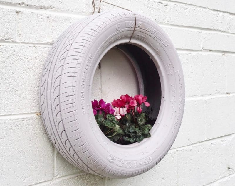 blending in - an alternative tire garden idea