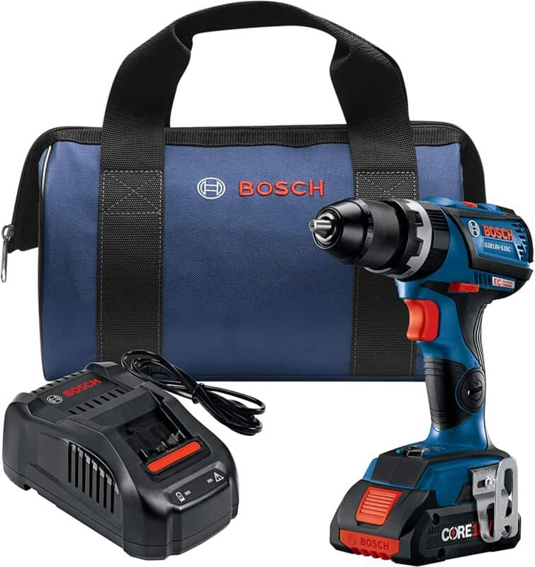 Bosch GBV18V-535CB15 EC Brushless Connected-Ready Compact Tough ½ In. Hammer Drill/Driver