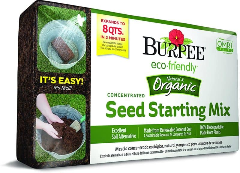 Burpee 8 qt Organic Coir Compressed Seed Starting Mix