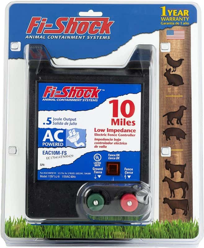 Fi-Shock EAC10M-FS 10-Mile AC Low Impedance Electric Fence Energizer
