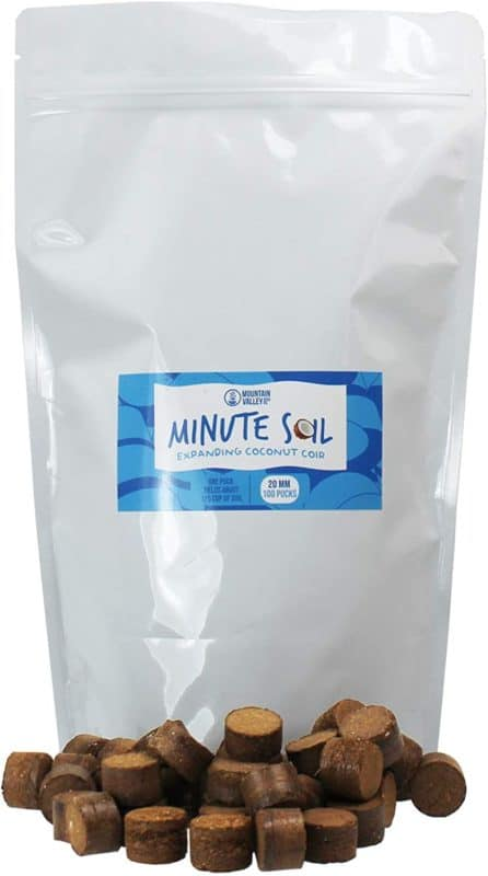 Mountain Valley Seed Company Minute Soil - Compressed Coco Coir Fiber Grow Medium