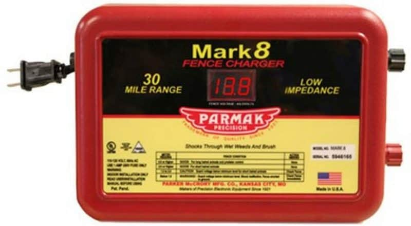 Parmak MARK8 Low Impedance 110/120-Volt 30-Mile Range Electric Fence Charger (reflecting)