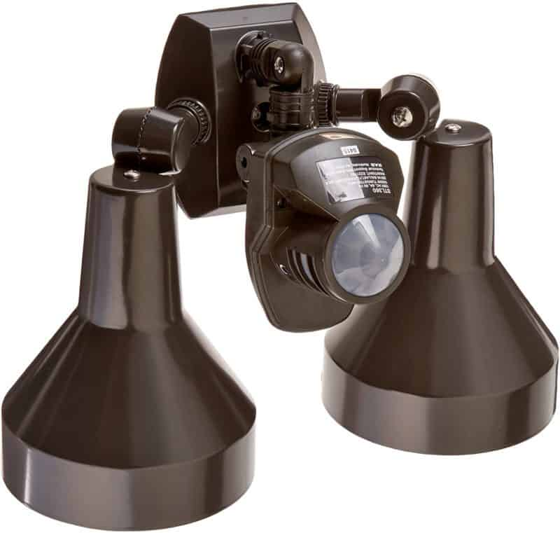 RAB Lighting STL360H Super Stealth 360 Sensor with Twin Precision Die Cast H101 Deluxe Shielded Bell Floods