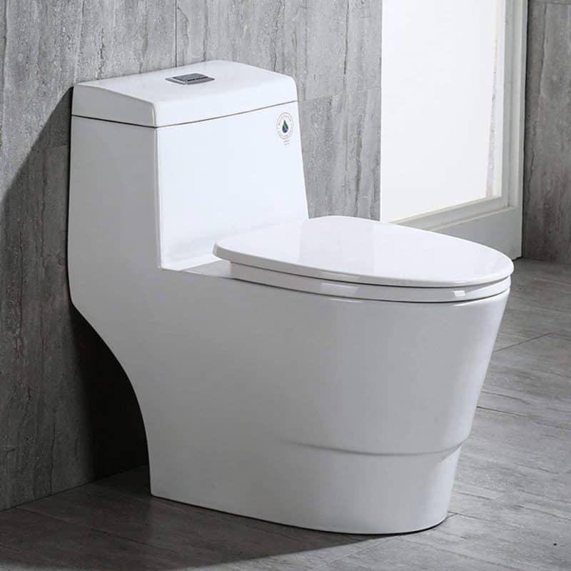 WOODBRIDGE T-0019 Dual Flush Elongated One Piece Toilet