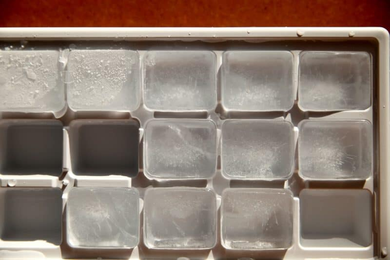 ice cube trays should be removed to maximize freezer space