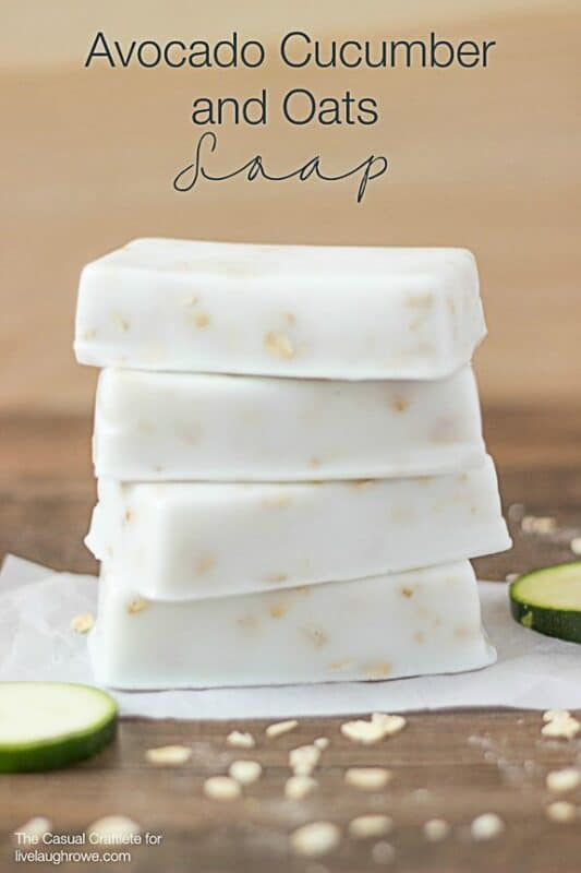 28. Avocado and Cucumber Soap