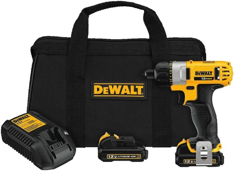 DEWALT-DCF610S2-12-Volt-Max-¼-Inch-Screwdriver-Kit