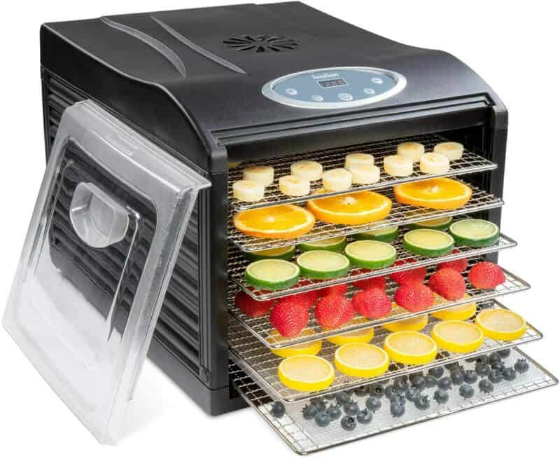 Ivation Stainless Steel Tray Electric Food Dehydrator Machine