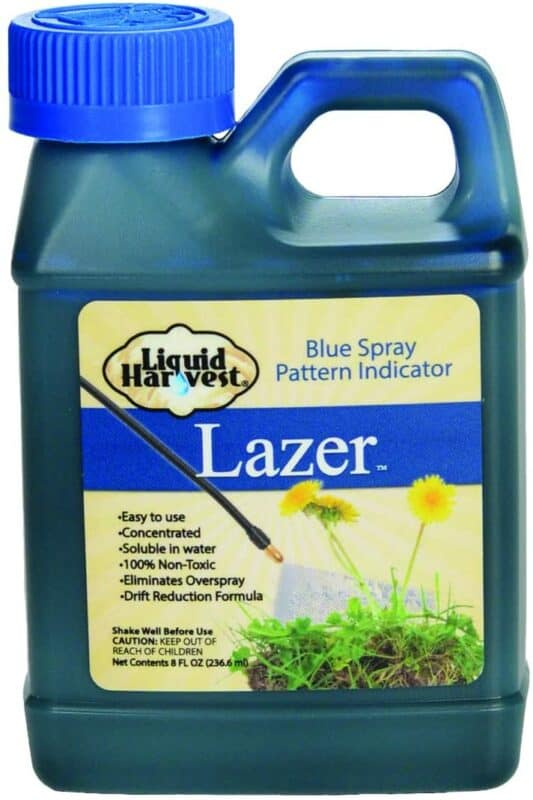 Liquid Harvest Lazer Blue Concentrated Spray Pattern Indicator 8-Ounces Perfect Weed Dye