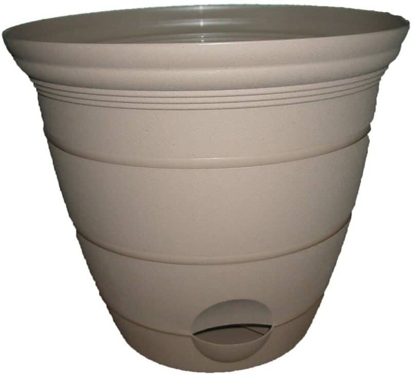 Misco Terra Collection Round Tapered Flared Self-Watering Terra Planter