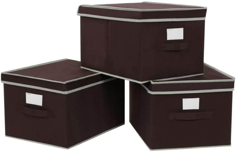 SONGMICS Large Storage Cubes Bin Box with Lids and Handles