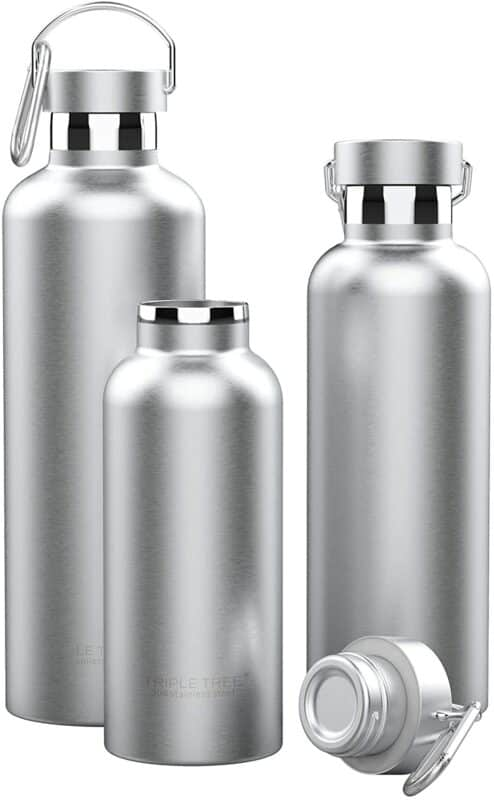 Triple Tree Vacuum Insulated Stainless Steel Water Bottle
