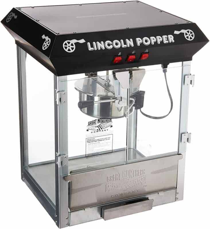 Great-Northern-Popcorn-Black-Bar-Style-Lincoln-Antique-Popcorn-Machine